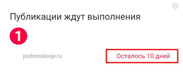 Информация по кол-ву дней ожидания публикации в Linkpress